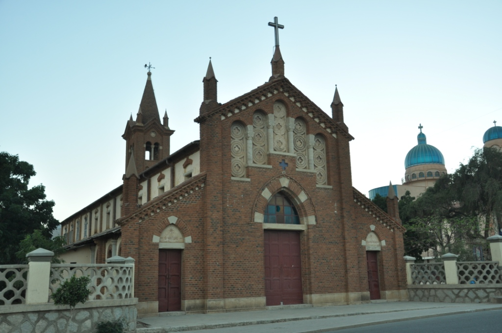 Old St Antony church built by Italians early 20th C, Keren