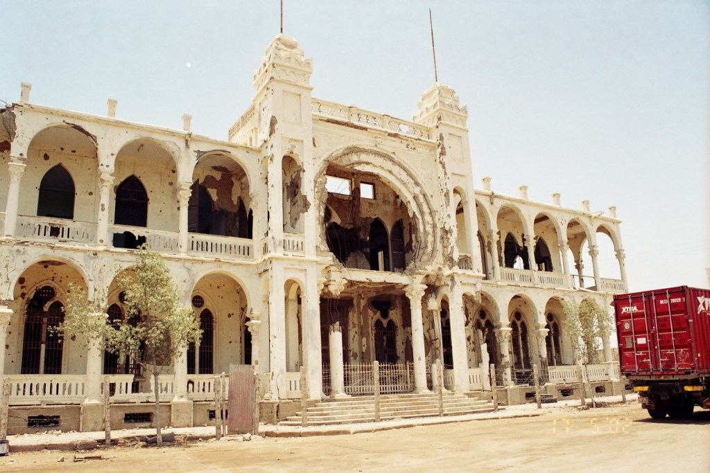 Bank Di Italia in Massawa- Art deco building from Italian times