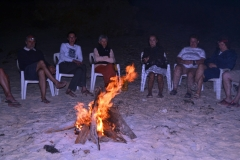 campfire on sandy beaches, the Dahlak Islands