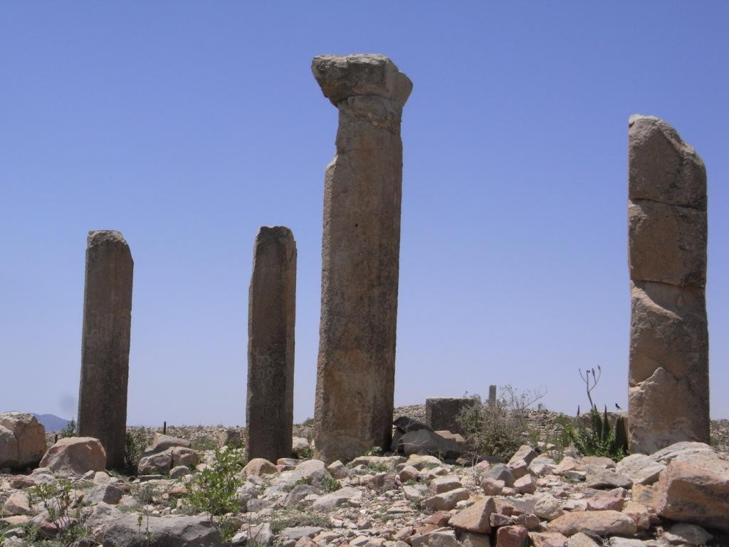Giant Pillars at the famous Archeological Site of Qohaito ??????????????????????????????????????????????????????????????????????????????????????????????????????????????
