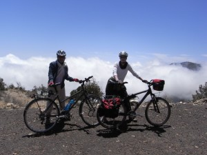 Short stop over Filfil Forest above the clouds