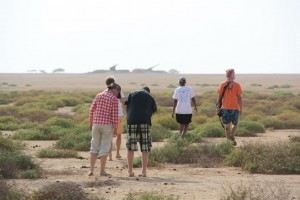 Hiking on sandy beaches, Massawa