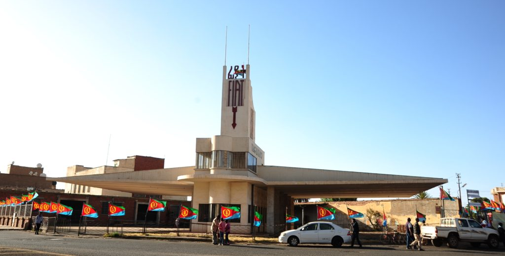 Fiat Tagliero, among Africa's best modernist architectures in Futuristic-style, Asmara